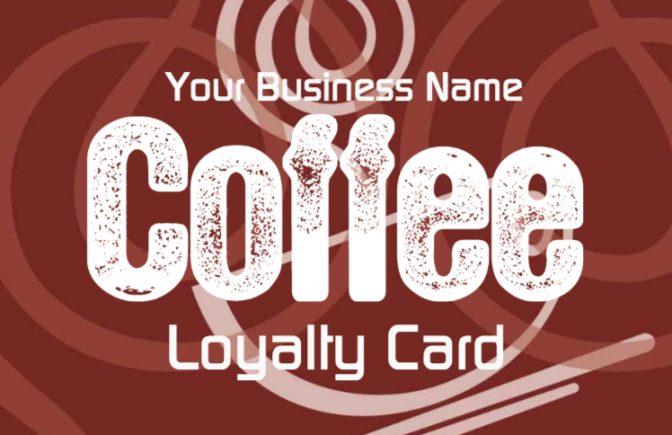 Coffee Shop Loyalty Card Template