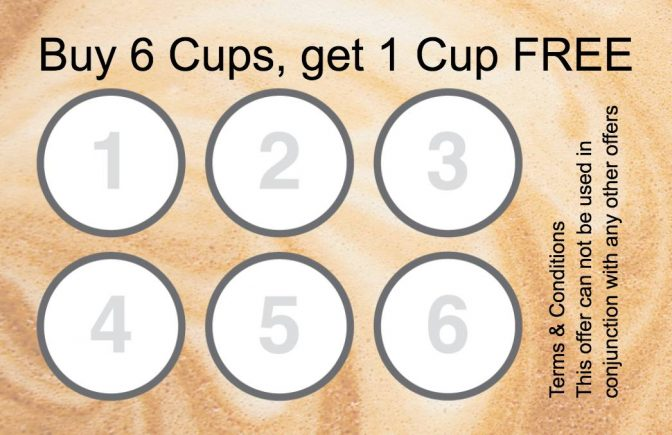 Collect 6 stamp Coffee