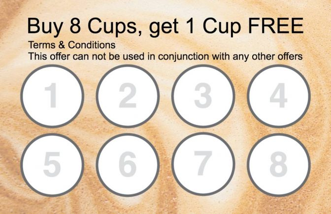 Collect 8 stamp Coffee