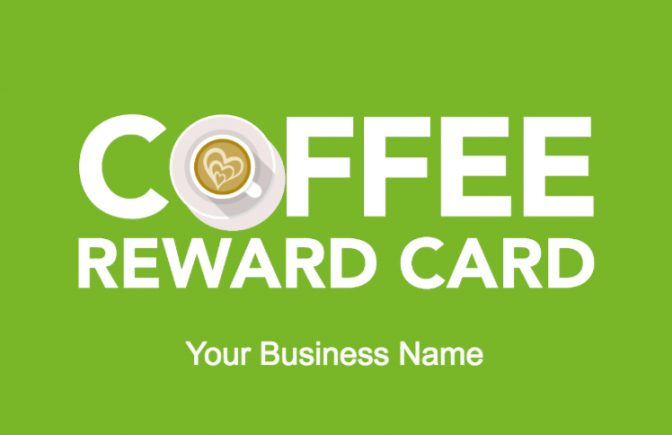 Coffee Reward Card Template