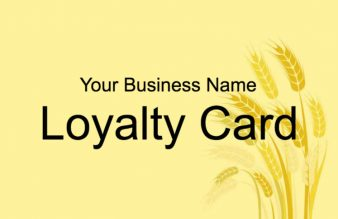 Pub Loyalty Card Template