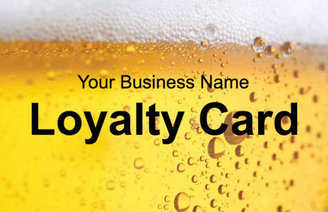 Beer Loyalty Card Template