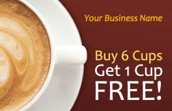 Coffee Cup Loyalty Card Template