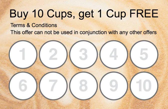 Collect 10 stamp Coffee