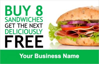 Sandwich Loyalty Card Template