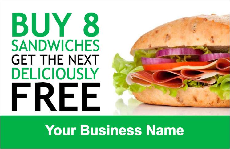 sandwich loyalty card customer loyalty cards