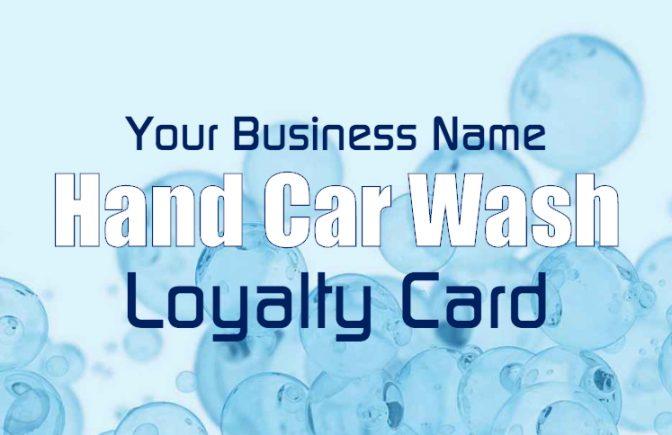 Hand Car Wash Loyalty Card Template