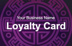 Purple Loyalty Card Template