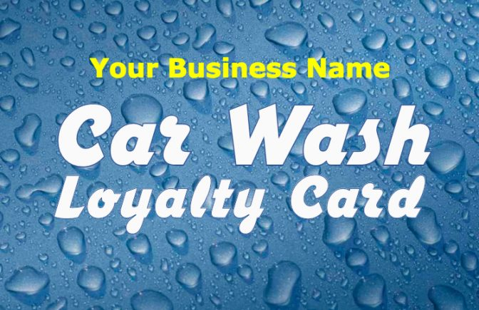 Car Wash Loyalty Card Template