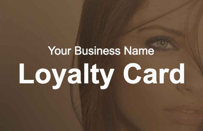 Hairdressing Loyalty Card Template
