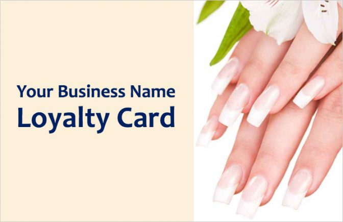 Nail Bar Loyalty Card