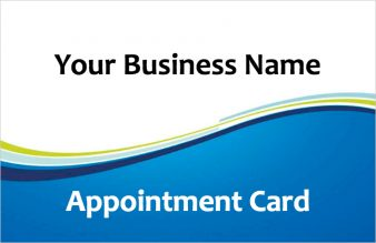 Appointment Cards Customer Loyalty Cards