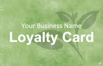 Tea Loyalty Card